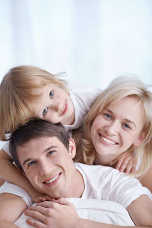 Portrait of an attractive young family photo