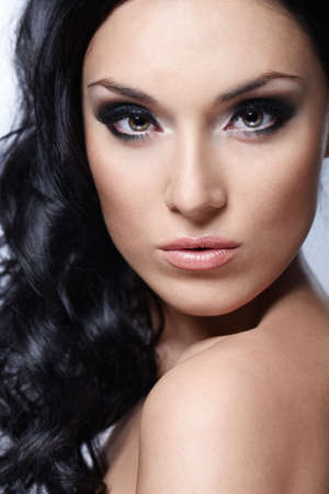 A beautiful young girl with makeup and styling Stock Photo - 8441894