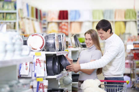 Attractive couple in the store Stock Photo - 8695461