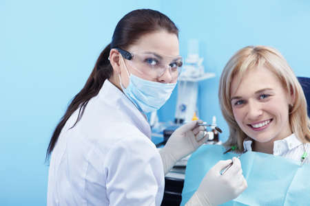 The patient and dentist in dental Stock Photo - 8695564