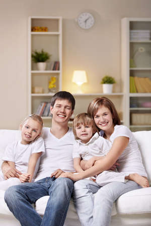 A happy family home evening Stock Photo - 8979011
