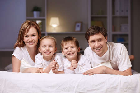 Families with children at home in the evening Stock Photo - 9075134