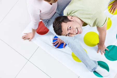 twister: Young people play Twister