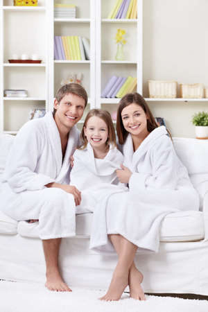 Families with a child at home photo