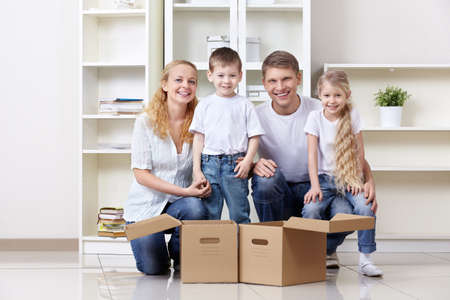Families with young children at home Stock Photo - 9606176