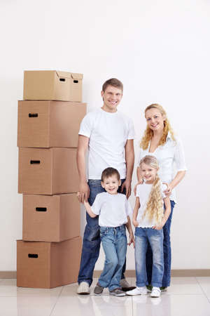 Families with young children at home photo