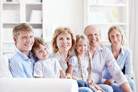 Happy family with children photo