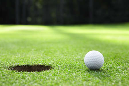 golf hole: Ball in the hole