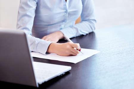 documents: Woman Stock Photo
