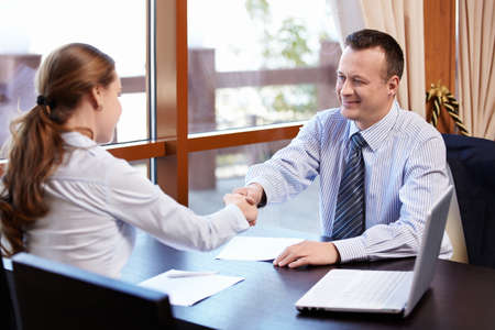 Business people shake hands Stock Photo - 11698791