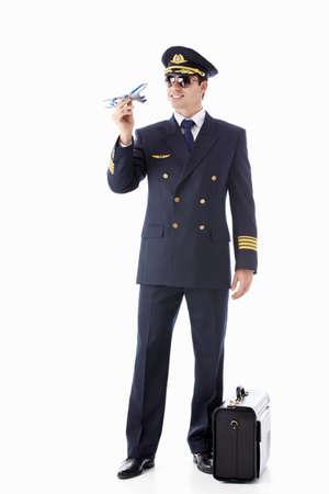 Aviator on a white background photo