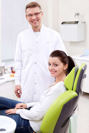 The patient in the dental clinic photo
