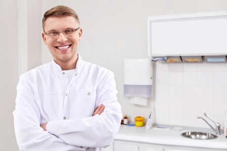 dentista: Paciente en la recepci�n en el dentista Foto de archivo