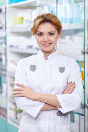 A young pharmacist at the pharmacy Stock Photo - 13496815