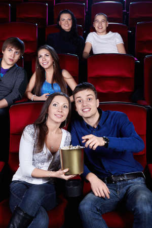 Young people in the cinema Stock Photo - 13496861