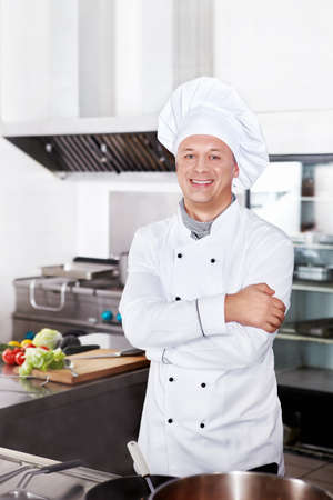 chefs whites: The cook in the kitchen