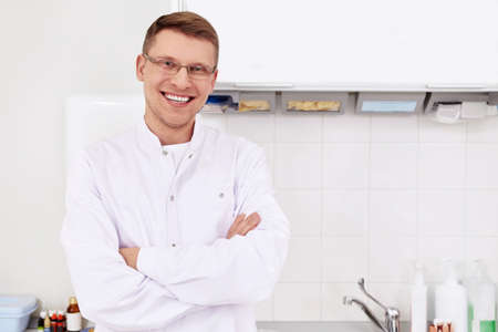 uniformes de oficina: El dentista en la cl�nica