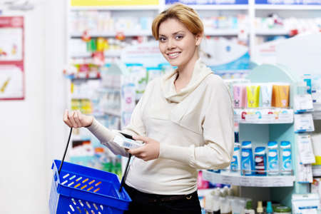 The buyer at the pharmacy Stock Photo - 13709466