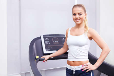 Attractive girl in the gym Stock Photo - 13709681