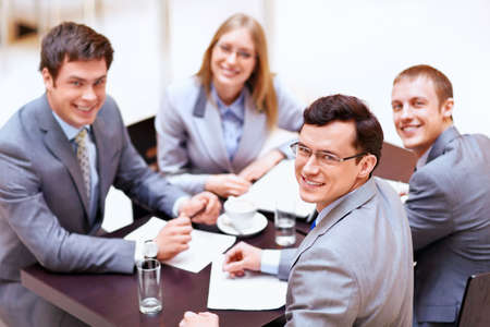 Businessmen with laptop in office Stock Photo - 13936950