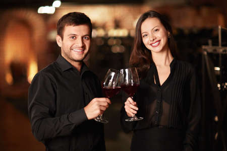 Couple of glasses of the wine cellar photo