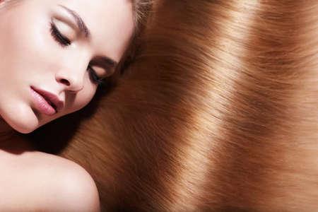 beautiful hair: Young girl with beautiful hair Stock Photo