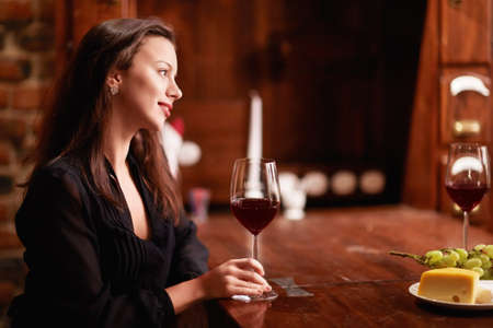 Attractive girl in a restaurant Stock Photo - 14645762