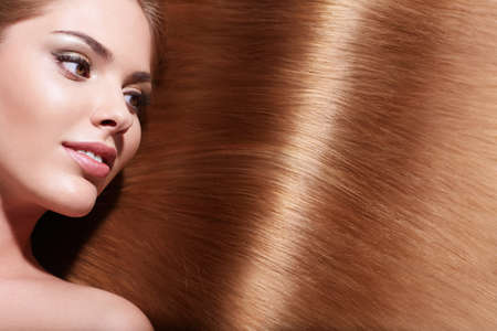 Beautiful girl with healthy hair Stock Photo - 14927196