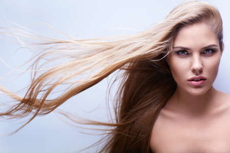 Young girl with long hair Stock Photo - 15501855