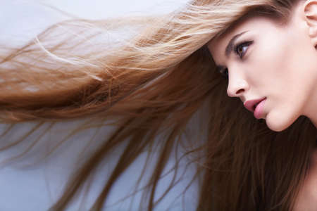 Young girl with beautiful hair Stock Photo - 15264037