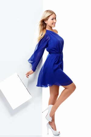 shopaholics: Beautiful girl with shopping bags
