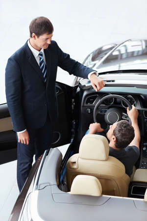 Seller and the buyer in car Stock Photo - 15573172