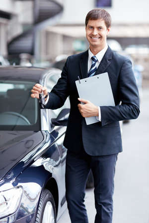 Sold with car keys in the showroom Stock Photo - 15573170