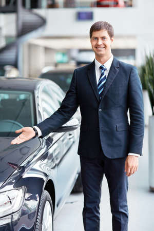 rental car: Seller about a car showroom