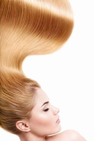 Beautiful girl with shiny hair photo