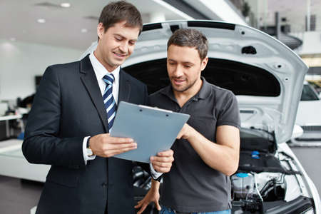 Young man buys a car Stock Photo - 15896000