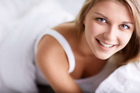 duvet: Young girl in bed