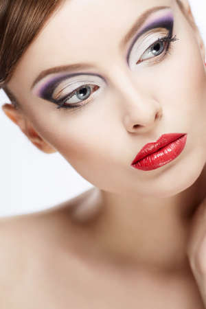 Portrait of a beautiful girl with make-up Stock Photo - 17387026