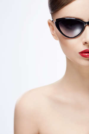 Portrait of a young girl in sunglasses Stock Photo - 17347256