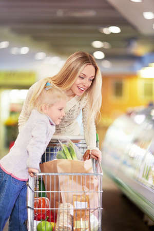 Mother and daughter in the store Stock Photo - 18661107
