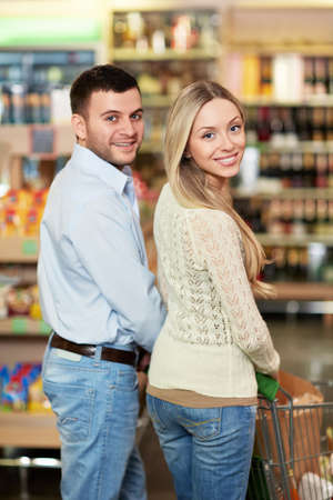 Young couple in the store photo