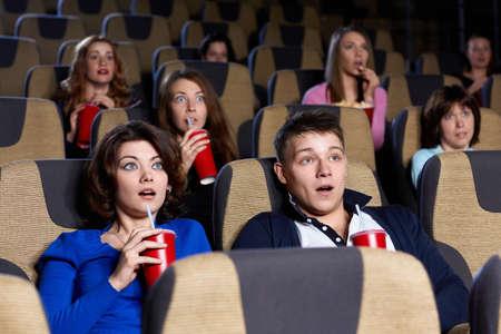 cinema people: People watching movie at the cinema