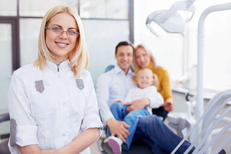 Family in the dentists office