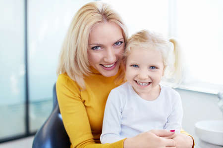 Mother and daughter at the doctor