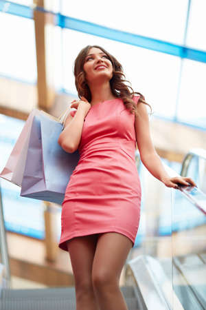 Young girl with shopping bags Stock Photo - 21886879