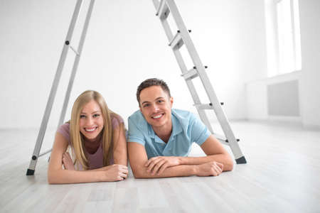 Young couple at home photo