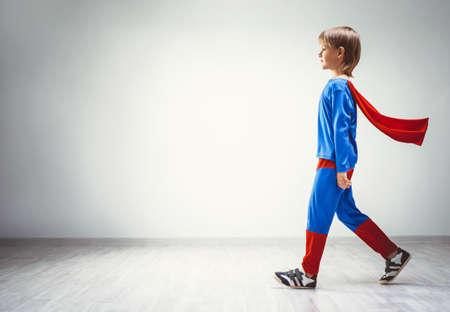 rescuer: Little boy in suit   Stock Photo