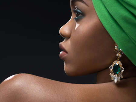 turban: Young african woman in the studio
