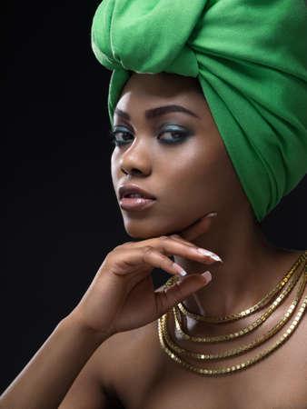 femme africaine: beaut� noire Banque d'images