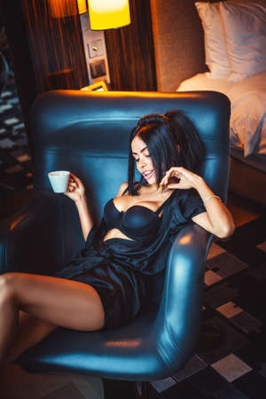 sensuality: Sensuality beautiful girl in the apartment